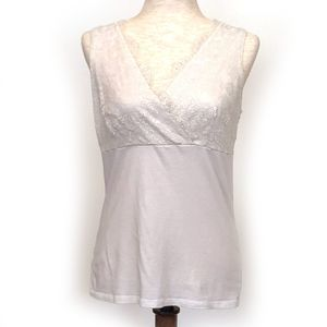 Ann Taylor Factory Sleeveless Top Lace Bodice MED